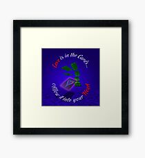 Love Is In The Cards Framed Print