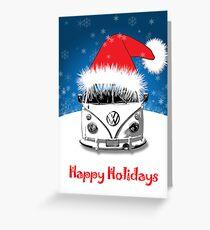 VW Camper Happy Holidays Greeting Card
