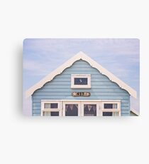 Beach hut in blue Canvas Print