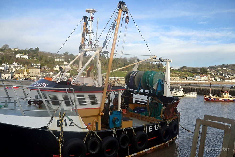 The Sea Seeker Fishing Boat at Lyme, Dorset UK by lynn carter