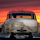 BUICK EIGHT SUNSET by Larry Butterworth