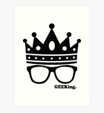 GEEKing Wall Decree Art Print
