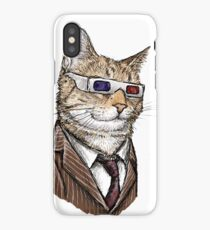 10th Doctor Mew 3D Glasses iPhone Case/Skin