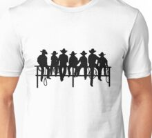 Cowboys on wood fence Unisex T-Shirt