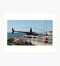 Helicopter for Joy Flights, Geelong Waterfront. Victoria. Aust. Art Print