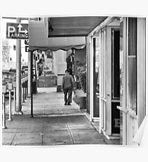 Walking down Van Ness Poster