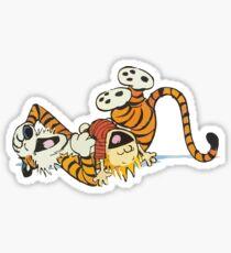calvin and hobbes rotfl Sticker