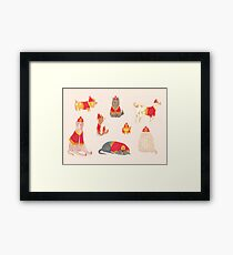Fire Dogs Framed Print