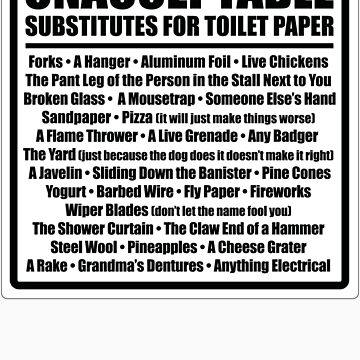 Unacceptable Substitutes for Toilet Paper by BholdBrett