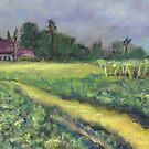 A Walk at Eli's (pastel) by Niki Hilsabeck