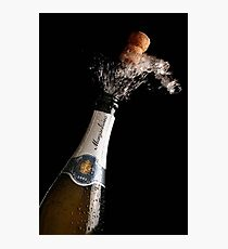 Celebration Theme With Exploding Champagne Photographic Print