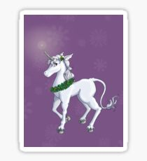Holly Unicorn Sticker