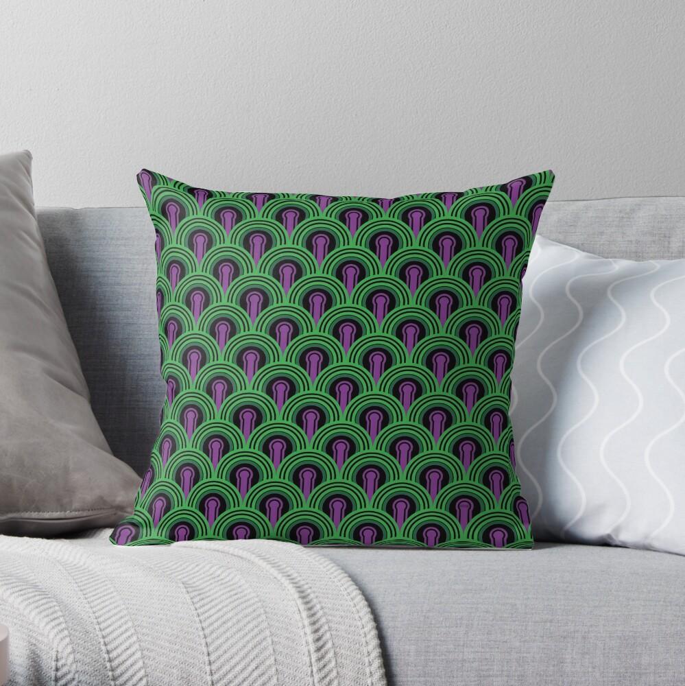 'The Shining' Overlook Hotel Room 237 Carpet Leggings Throw Pillow