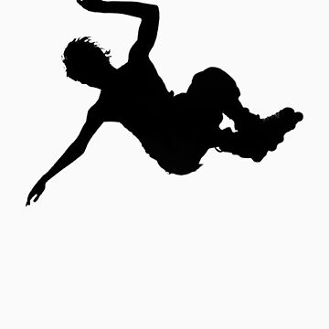 Aggressive inline skating jump silhouette by svatopluc