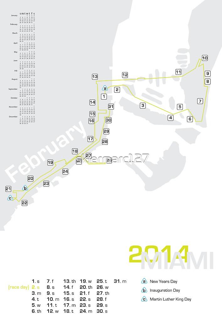 Miami marathon map