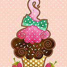 Bow Cupcake by prettycritters