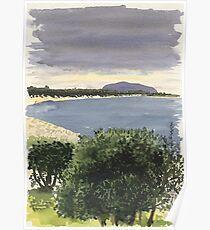 Cabbage Tree Island, Hawks Nest Poster