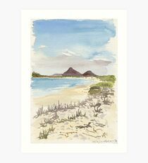 Jimmys Beach, Hawks Nest Art Print