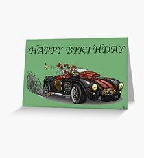 AC COBRA STYLE STEAMPUNK BIRTHDAY CARD Greeting Card