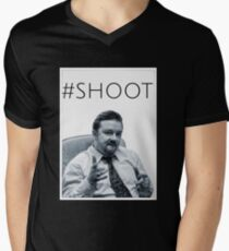 #SHOOT Mens V-Neck T-Shirt