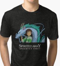 Spirited Away Chihiro and Haku-Studio Ghibli Tri-blend T-Shirt