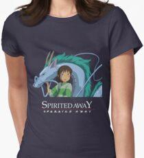 Spirited Away Chihiro and Haku-Studio Ghibli Women's Fitted T-Shirt