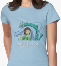 Spirited Away Chihiro and Haku-Studio Ghibli Womens Fitted T-Shirt