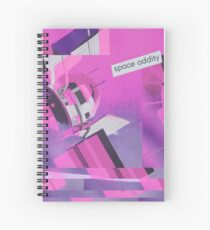 Space Oddity Pink Satellite Spiral Notebook
