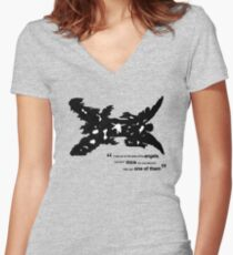 One Of The Better Angels Women's Fitted V-Neck T-Shirt