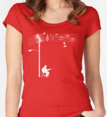 Wired Sound - White Women's Fitted Scoop T-Shirt