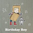 Cardboard Kid Robot (Little Stars Collection) by MissIllustrator