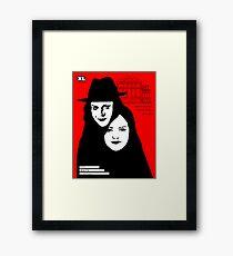 The white stripes poster design  Framed Print