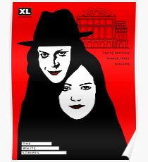 The white stripes poster design  Poster