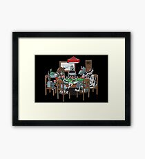Robot Dogs Playing Poker Framed Print