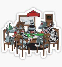 Robot Dogs Playing Poker Sticker