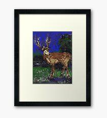 Reindeer for Xmas Framed Print
