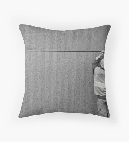 Just a little to the right... Throw Pillow