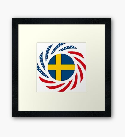 Swedish American Multinational Patriot Flag Series Framed Print