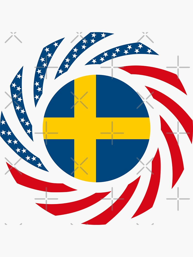 Swedish American Multinational Patriot Flag Series by carbonfibreme