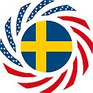 Swedish American Multinational Patriot Flag Series by Carbon-Fibre Media