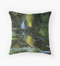 Ngatuhoa Ghost Fantail Rainbow Throw Pillow