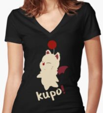 Final Fantasy - Kupo! Women's Fitted V-Neck T-Shirt
