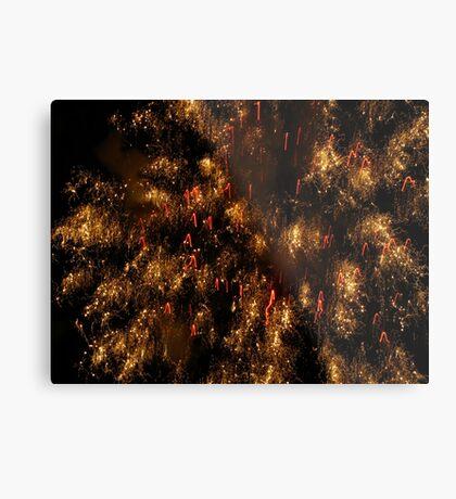 Galaxy fireworks Metal Print