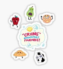 """Crying"" Breakfast Friends! // Steven Universe Sticker"