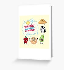 """Crying"" Breakfast Friends! // Steven Universe Greeting Card"