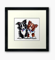 Little League Border Collies Framed Print