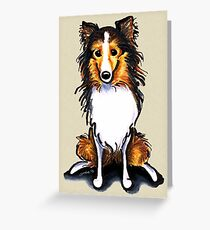 Sable Sheltie Sit Pretty Greeting Card