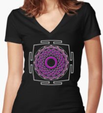 CHAKRA_8th_MANTRA_2014 Women's Fitted V-Neck T-Shirt