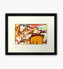 Arcanine | Fire Fang Framed Print