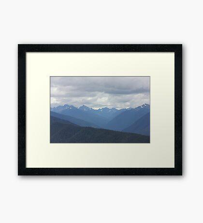 Perfecet Mountain Vista Framed Print